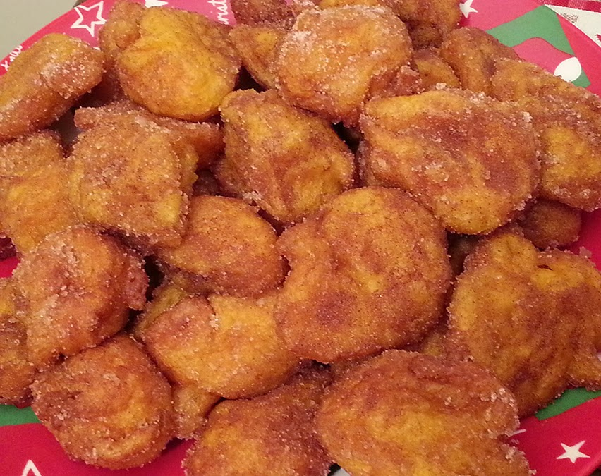 Fritos de abóbora tão bons!