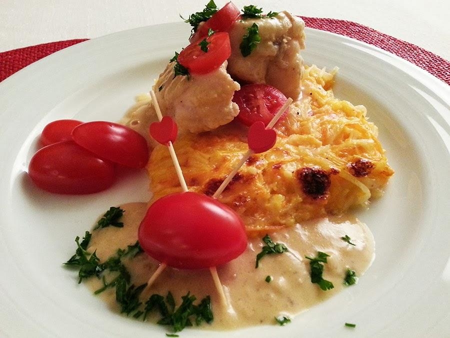 Dia dos Namorados: Tamboril com molho de mostarda e gratinado cremoso de legumes