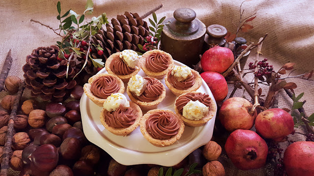 Delícias de castanha e chocolate