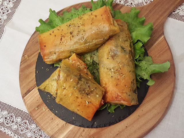 Crepes de legumes no forno