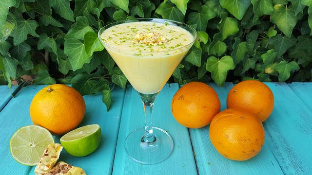 Mousse de laranja e lima
