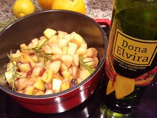 compota de marmelos e maçã