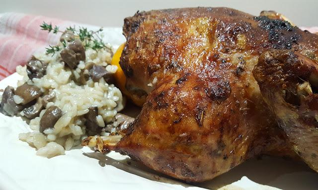 Pato assado com mostarda, laranja e arroz de miúdos # Sugestões de Natal