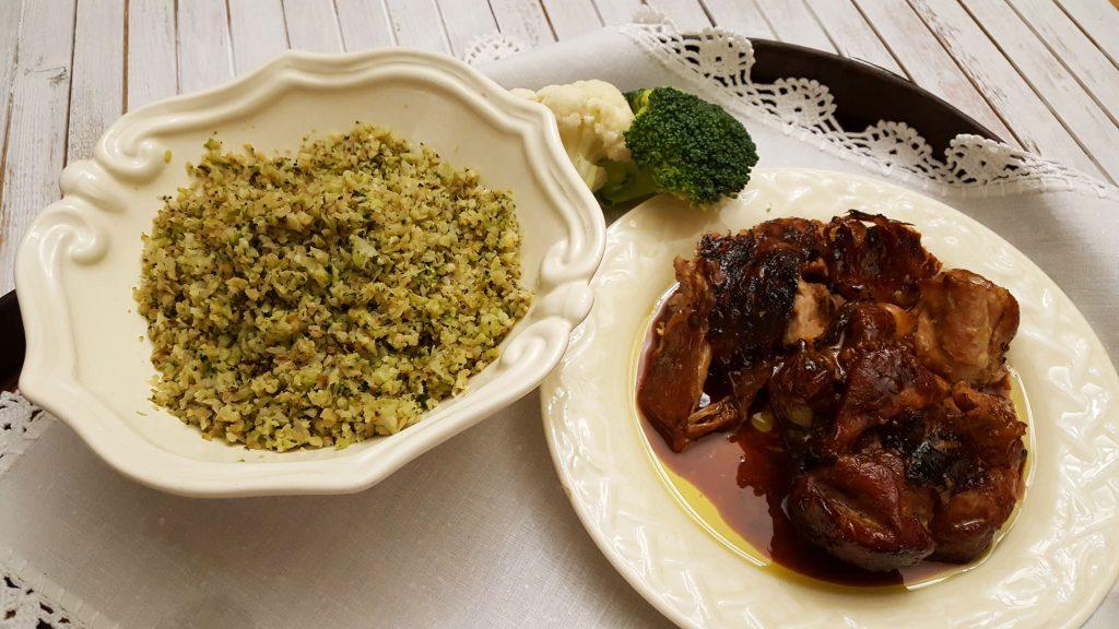 arroz vegetal e peru