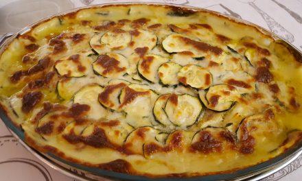 Bacalhau cremoso com legumes