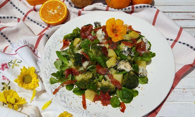 Salada de batata e canónigos com gorgonzola