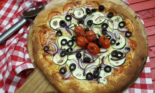 Pizza com vegetais