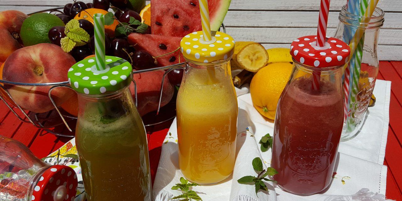 Sumos e smoothies saudáveis e dicas sobre o Aloe Vera