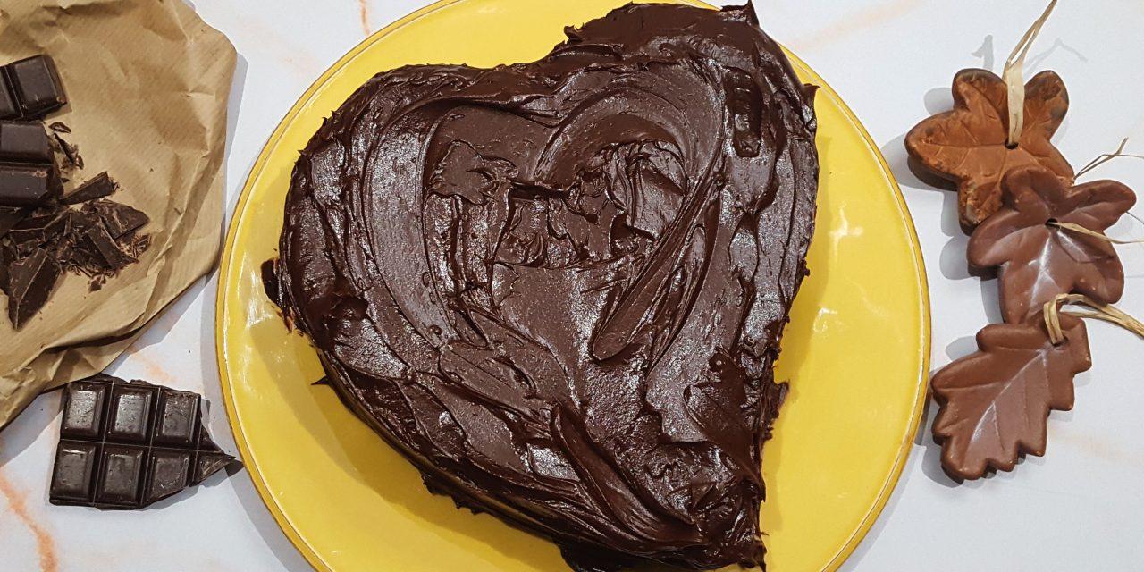 Bolo Coração de Chocolate
