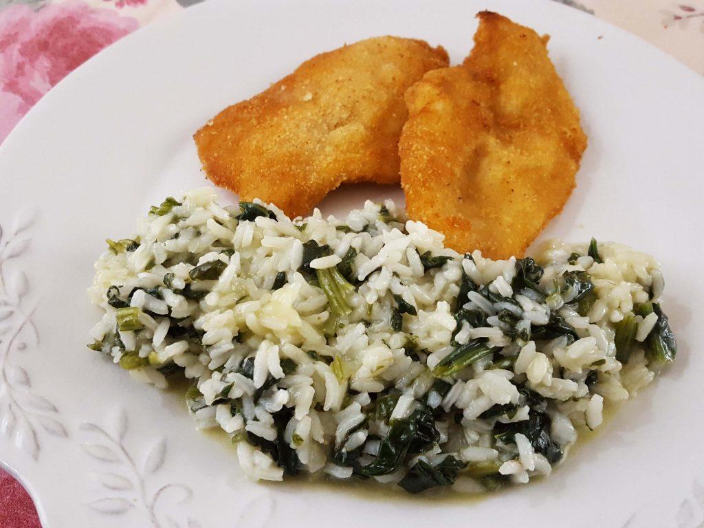 arroz de espinafres