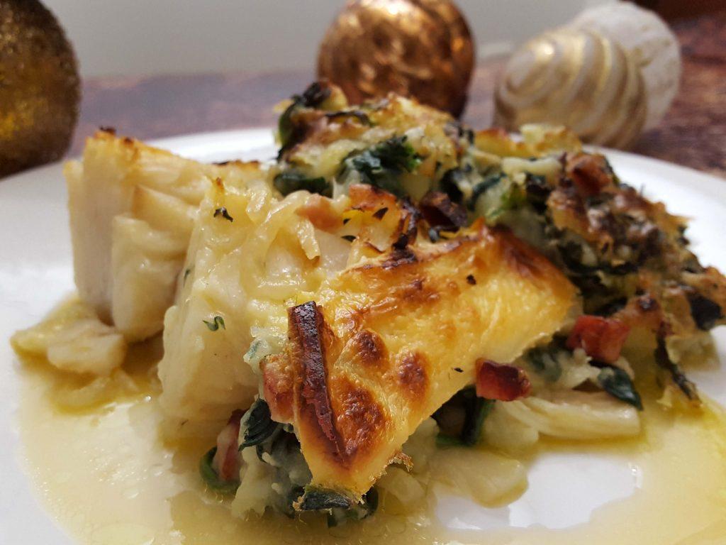 bacalhau com esmagada de batata