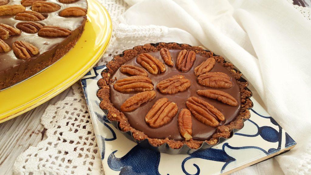 tarte de chocolate com nozes