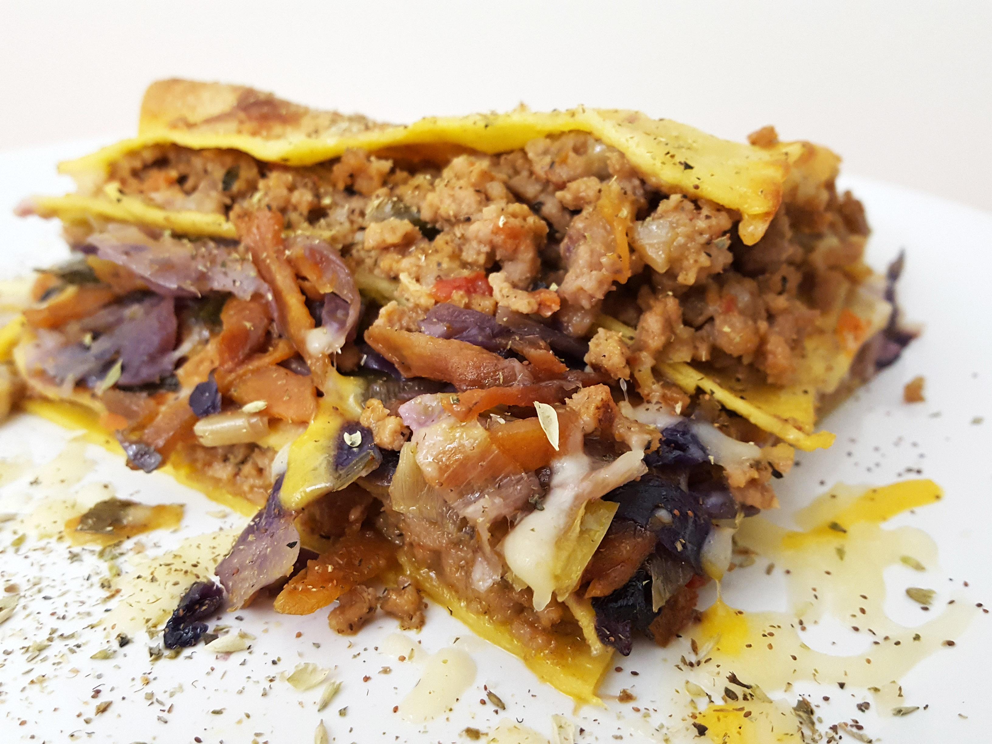 lasanha de legumes e carne
