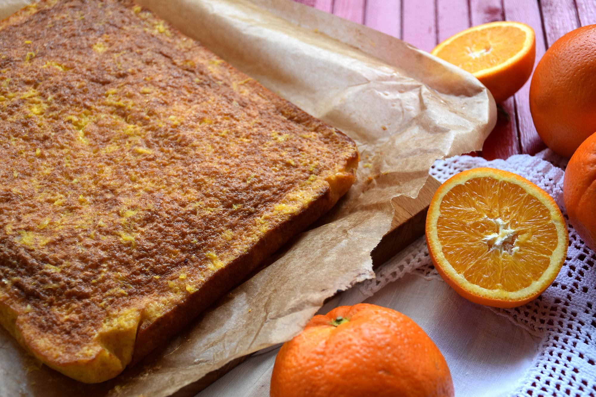 bolo de laranja húmido