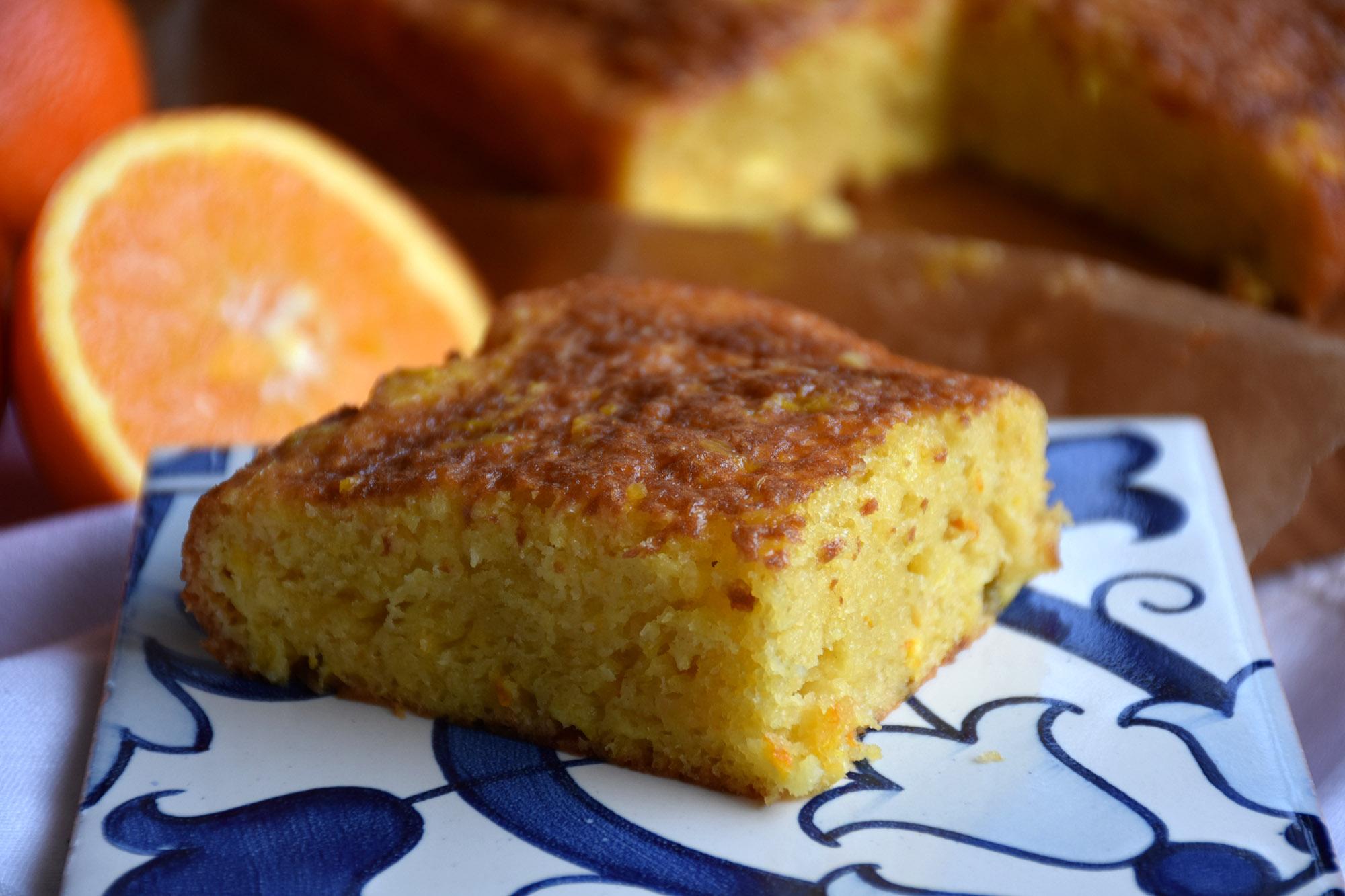 bolo de laranja humido e facil