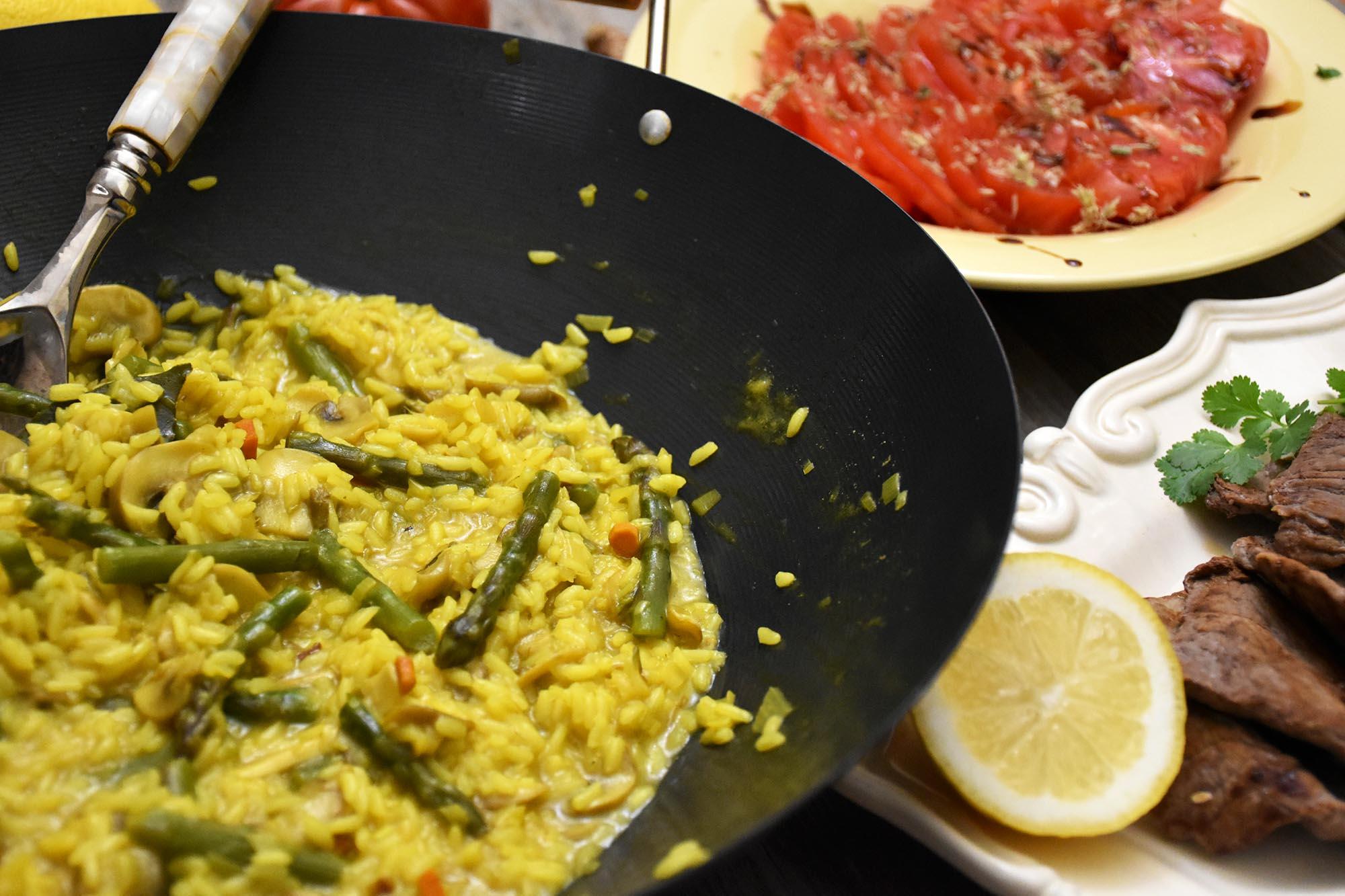 arroz de legumes e especiarias
