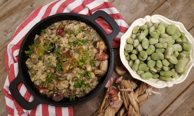 Arroz de favas com enchidos