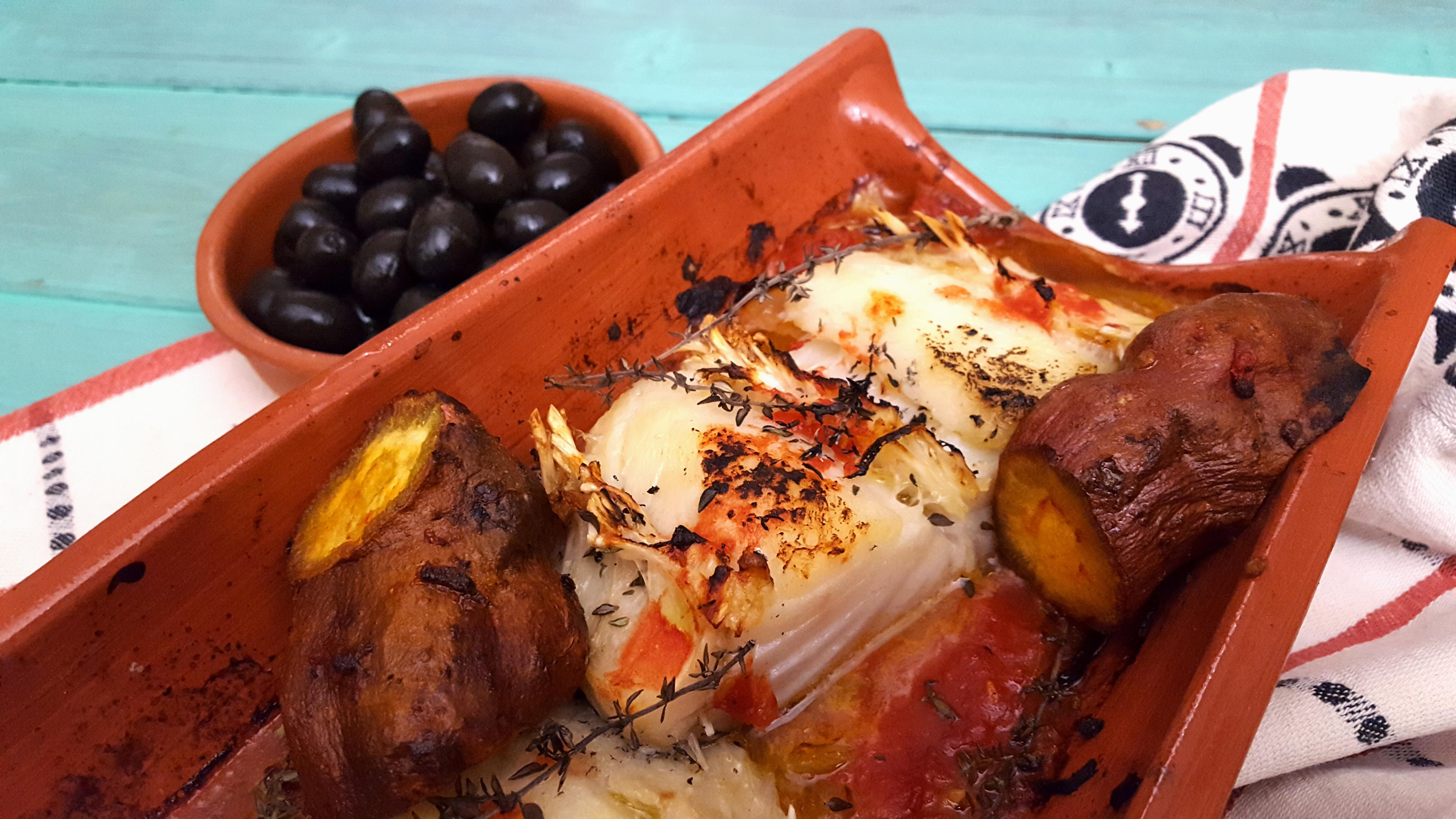 receita de bacalhau na telha