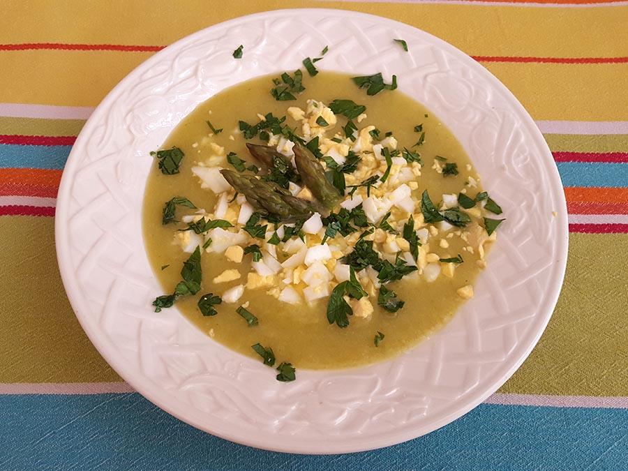 sopa fria de couve flor