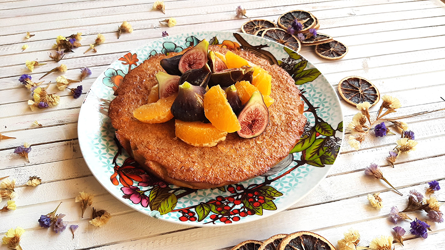 Delícia de amêndoa, figo e laranja