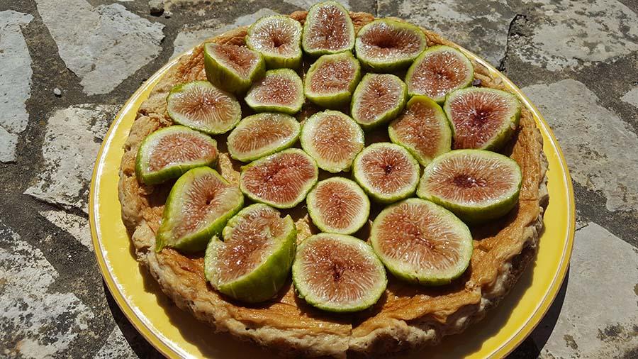 Cheesecake de figos frescos